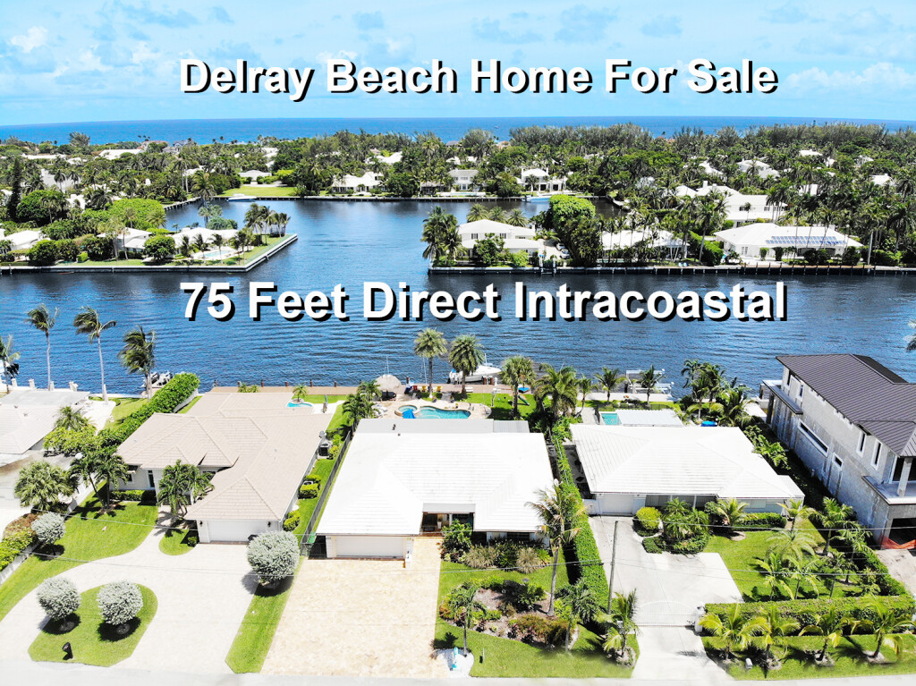 Waterfront Home for Sale in Delray Beach, FL